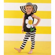 """Καπέλο """"Black and White straw"""""""