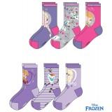 Καλτσάκια Disney Frozen -λιλά-3 τεμάχια
