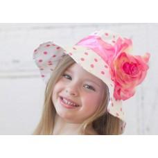 """Καπέλο """"Hot pink dots"""""""