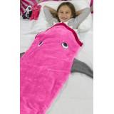 """Κουβέρτα """"Καρχαρίας""""-ροζ"""