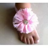 """Σανδάλια """"Pink strass flower"""""""