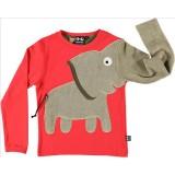 Μπλούζα ελέφαντας-κόκκινη