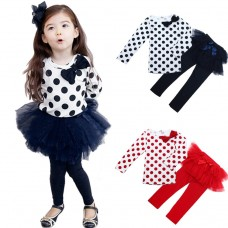 "Σετ ""Blue-black dots tutu"""