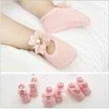 """Καλτσάκια """"Pink flowers"""" - 3τεμάχια"""