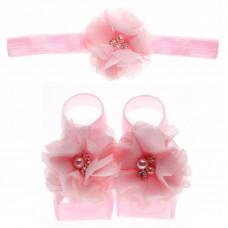 """Σετ """"Pink flower-headband"""""""