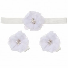 """Σετ """"White flower-headband"""""""