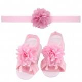"""Σετ """"Pink flowers-headband"""""""