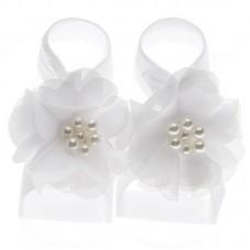 """Σανδάλια """"White flower"""""""