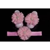 """Σανδάλια & Κορδέλα """"Pink strass flower"""""""