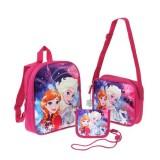 Σετ παιδική τσάντα-τσαντάκι ώμου-πορτοφόλι-μπρελόκ Frozen