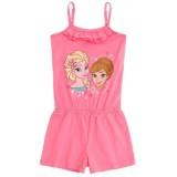 """Φόρμα ολόσωμη """"Frozen Elsa & Anna""""-pink"""