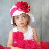 """Καπέλο """"Hot pink flower"""""""