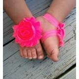 """Σανδάλια """"Hot pink flower"""""""