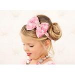 """Κορδέλα """"Pink bow-tiara"""""""