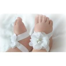 """Σανδάλια """"White flowers"""""""