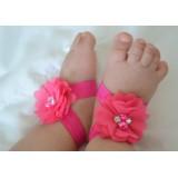 """Σανδάλια """"Hot Pink flowers"""""""