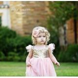 """Φόρεμα """"Pink-gold strass"""""""