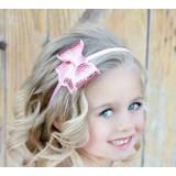"""Κορδέλα """"Pink bow strass"""""""