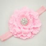 """Κορδέλα """"Pink strass flower"""""""