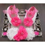 """Σετ """"Hot pink flower"""""""