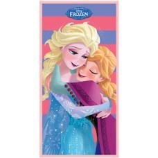 """Πετσέτα θαλάσσης """"Frozen Elsa & Anna"""" ριγέ"""