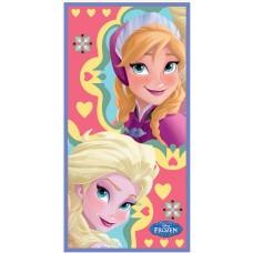 """Πετσέτα θαλάσσης """"Frozen Elsa & Anna"""" heart"""