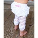 Κολάν White lace capri Rufflebutts