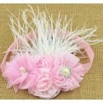 """Κορδέλα """"Pink strass flowers"""""""